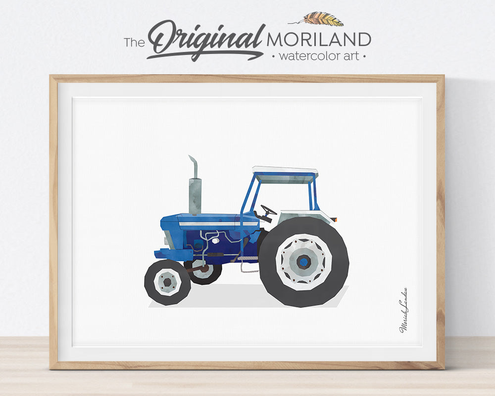 Tractor Nursery, Boy Bedroom Art, Combine Harvester Decor, Air Tractor Wall Art, Loader, Tractor Watercolor, Horse Trailer, Forklift Printable, MORILAND