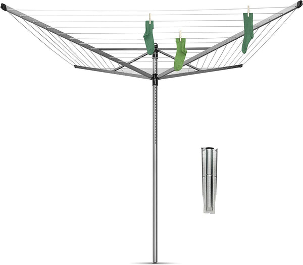 Brabantia Lift-O-Matic Large Rotary Airer Washing Line