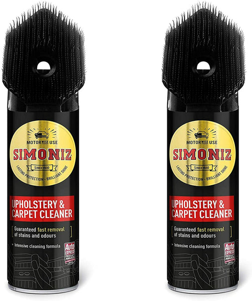 Simoniz Upholstery & Carpet Cleaner with Brush 500ml (2 x 500ml)