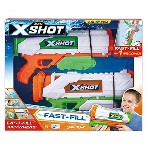 ZURU X shot water fast fill water blaster 2 pack