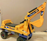 KIDS RIDE ON TOY DIGGER TODDLER PUSH ALONG EXCAVATOR