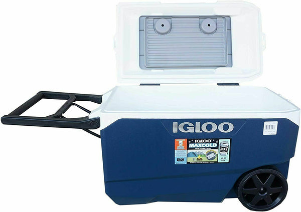 Igloo Flip and Tow 90 Quart 85 Litre Rolling Cool Box Ice Cooler 5 Days NEW