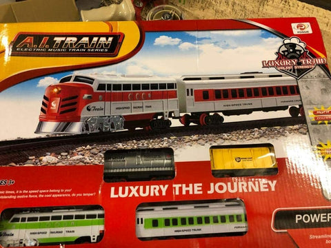 SUPER TOYS Railway Track Electric Train Cabin Set Gifts, Electric Music Train Series