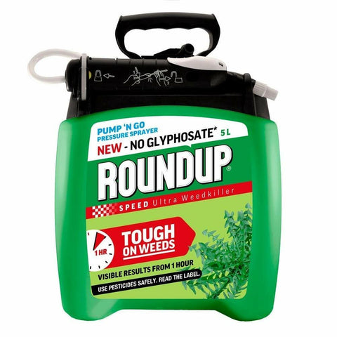 Roundup Speed Ultra Pump 'n Go Ready to Use 5L - Glyphosate Free