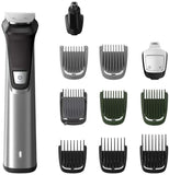 Philips 11-in-1 All-In-One Trimmer, Series 7000 Ultimate Grooming Kit for Beard, Hair & Body with 11 Attachments, Including Nose Trimmer, Self-Sharpening Metal Blades, UK 3-Pin Plug - MG7735/03