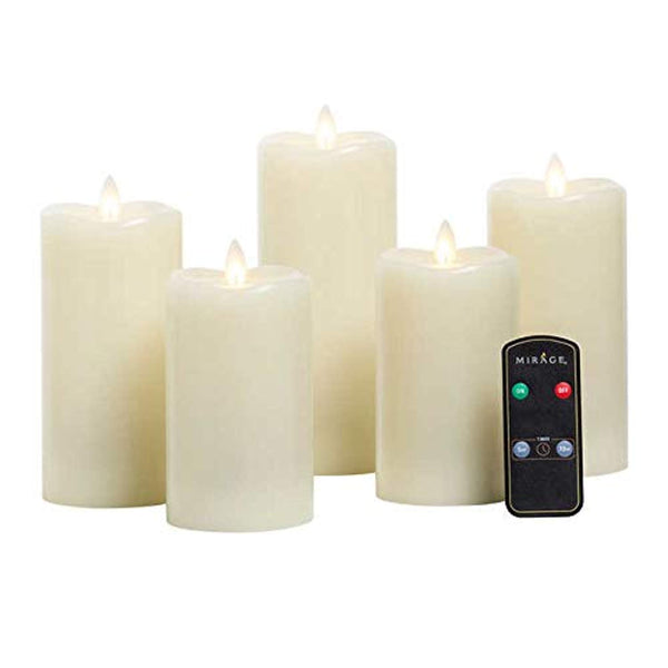 Mirage 5-Piece LED Candles The Look of a Real Flame - Super Bargain UK LTD