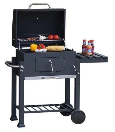 Super grills Charcoal BBQ Grill with lid outdoor cooking garden Barbecue Toronto style square - Super Bargain UK LTD