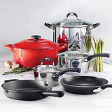 Tramontina 10-piece Ultimate Cookware Set Stainless Steel, Enamel & Cast Iron - Super Bargain UK LTD