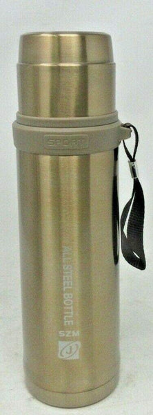 Double Wall Stainless Steel Vacuum Drink Flask Bottle Silver/Gold Travel Cup Thermal Mug Hot&Cold Thermos 800ml