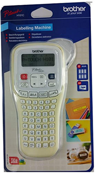 Brother P-Touch H101C Handheld Labelling Print Machine System + Tape + Batteries - Super Bargain UK LTD