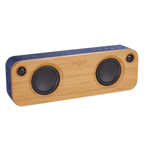 House of Marley Get Together Portable Bluetooth Speaker - Wireless Connect Your Device, Room Filling Sound, 3.5mm Aux-In, 10 Hrs Play Time Battery Life, Stream from iPhone iPad Samsung + More – Black - Super Bargain UK LTD