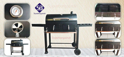 Super grills Outdoor Large Charcoal BBQ Grill Premium XXL Barbecue Garden - Super Bargain UK LTD