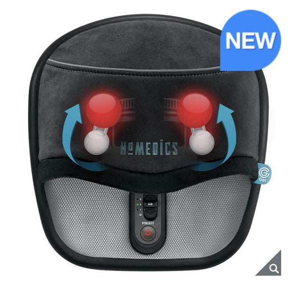 HoMedics Shiatsu Foot Massager with Heat (Black) - Super Bargain UK LTD