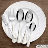 MIKASA COS5254014 Kinsley Cutlery Stainless Steel Fork Knife & Spoon Set 45 Piece-UK, Iron - Super Bargain UK LTD