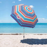 Tommy Bahama 2016 Sand Anchor 7 feet Beach Umbrella with Tilt and Telescoping Pole