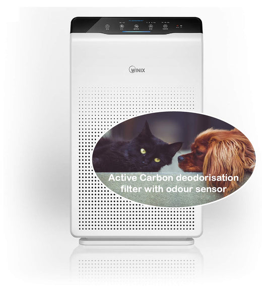 Winix 2020EU Air Purifier with True HEPA, active Carbon filter, PlasmaWave, Auto & Sleep mode, for allergies, smokers, dust, odour reduction , silent, up to 77 sqm, ideal for large living spaces [Energy Class A++] - Super Bargain UK LTD