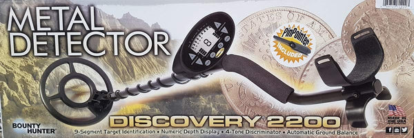Bounty Hunter Discovery 2200 Metal Detector with Pinpointer - Super Bargain UK LTD