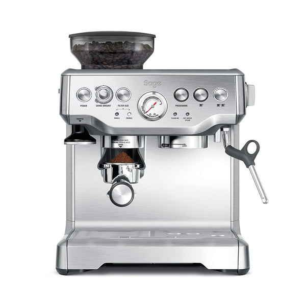 Sage BES875UK The Barista Express with Temp Control Milk Jug, Brushed Stainless Steel - Super Bargain UK LTD