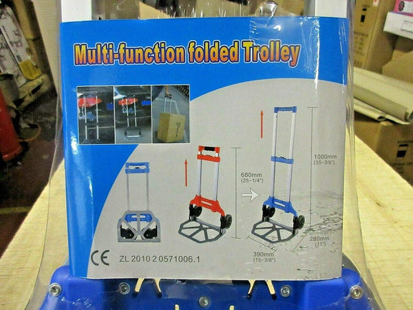 Heavy Duty Lightweight  Fold-able Luggage Trolley with 2 Wheels