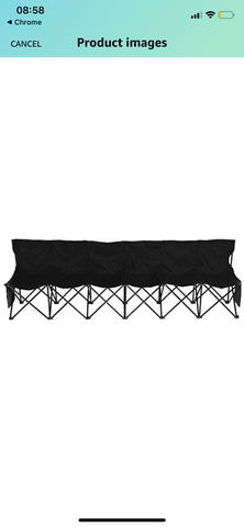 Super Heavy Duty Portable Folding Subs Bench 6 Seater