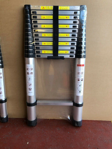 3Heavy Duty Multi-Purpose Aluminum Telescopic Ladder Extendable Steps
