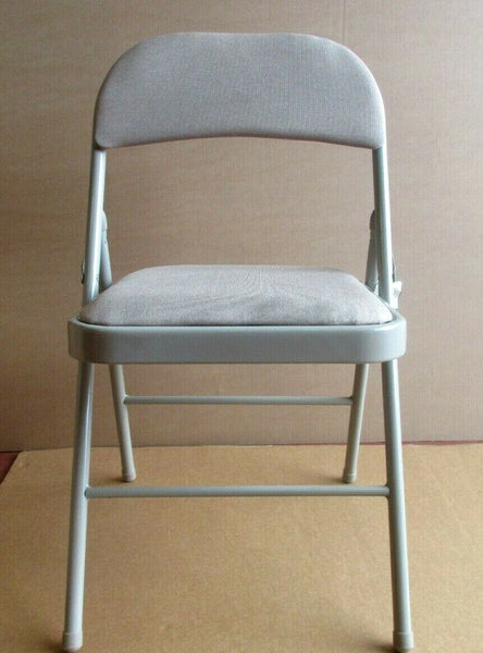 SUPER Delux Folding Strong Metal Frame Padded Back Rest Chair