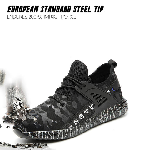 Camouflage Breathable Indestructible Safety Shoes