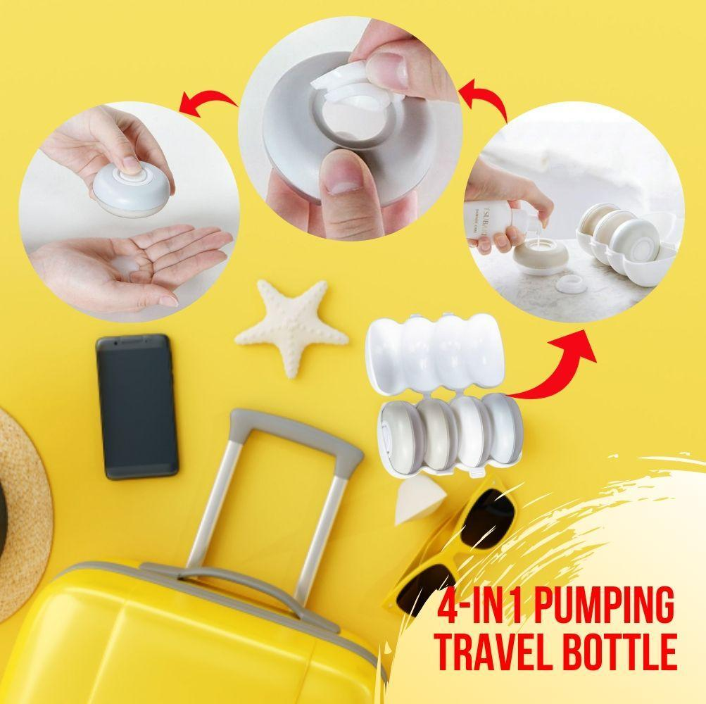 4-in-1 Pumping Travel Bottle Set