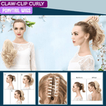 Claw-Clip Curly Ponytail Wigs