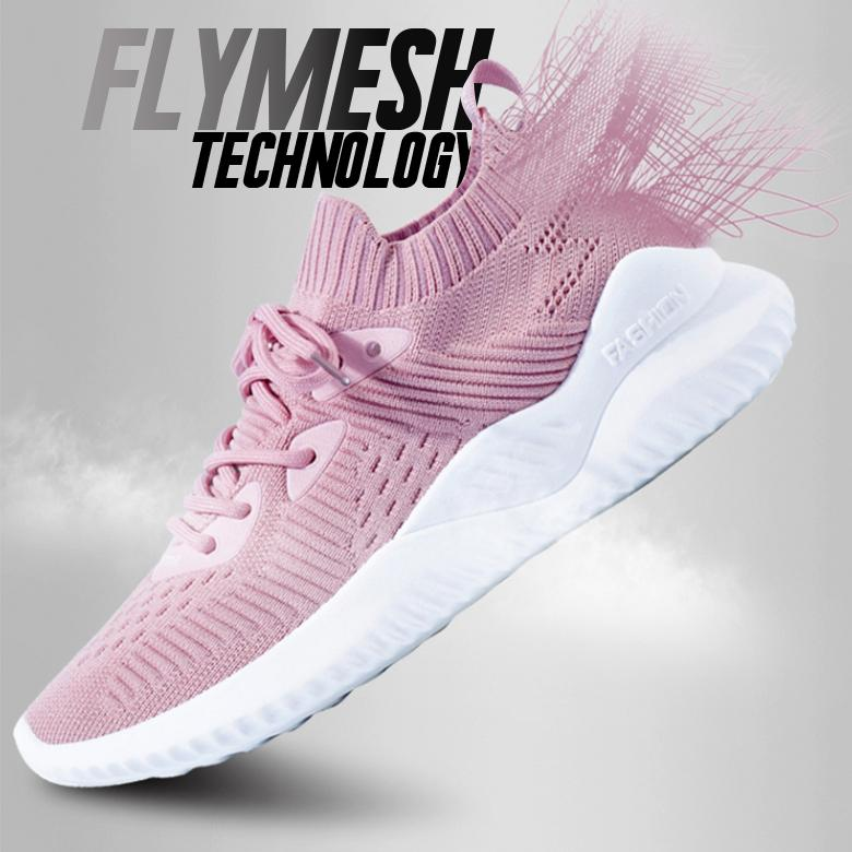 FlyMesh Shock Absorbent Breathable Sneakers