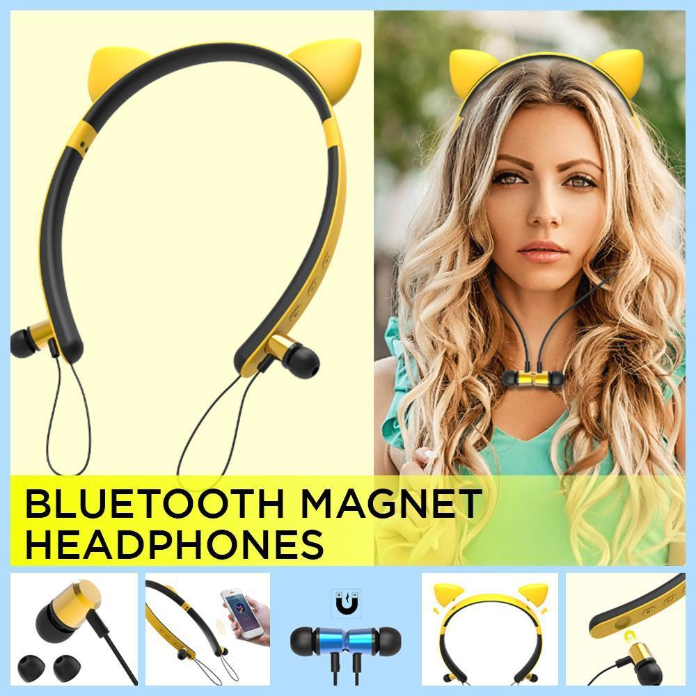 Cartoon Ears Bluetooth Magnet Headphones