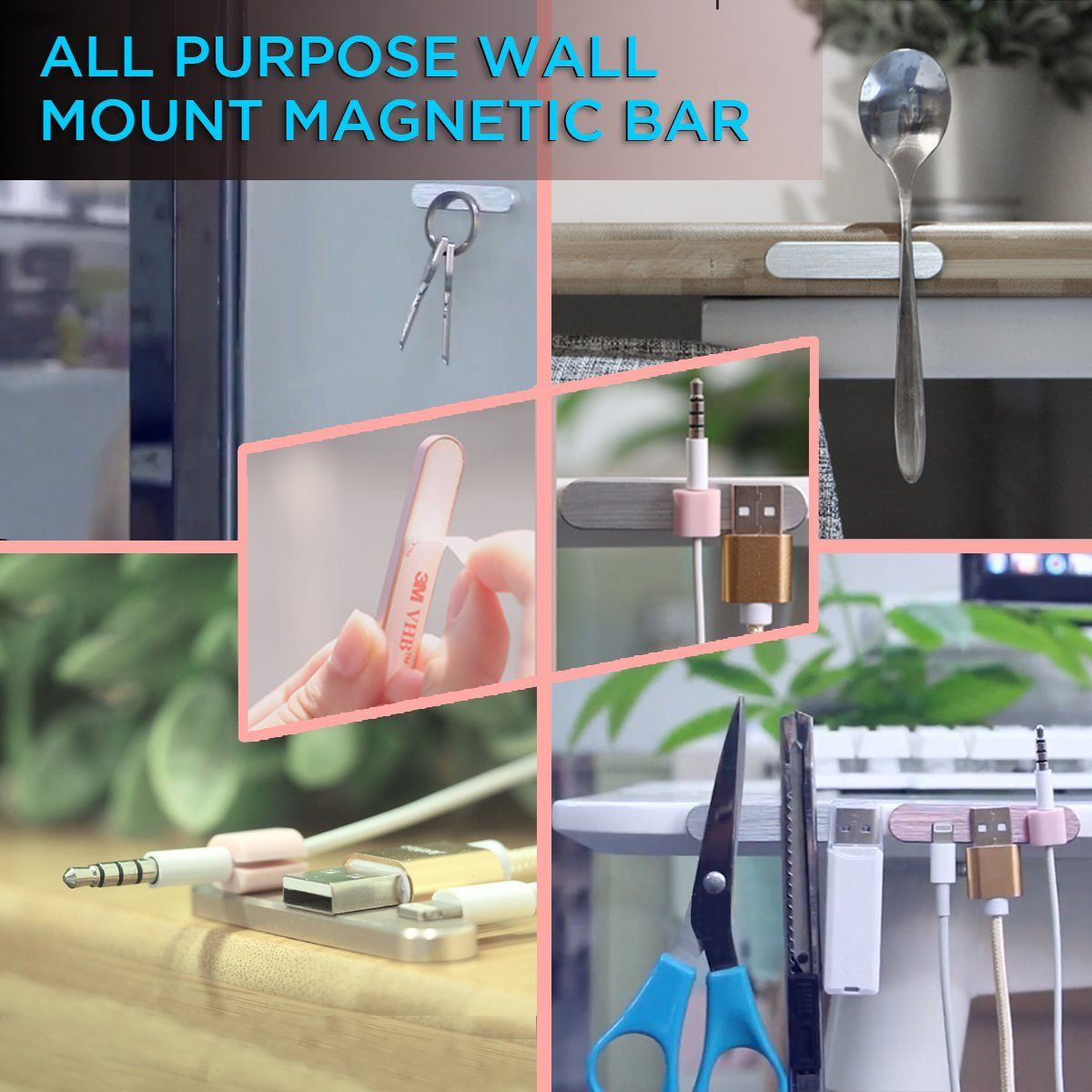 All-Purpose Wall Mount Magnetic Bar