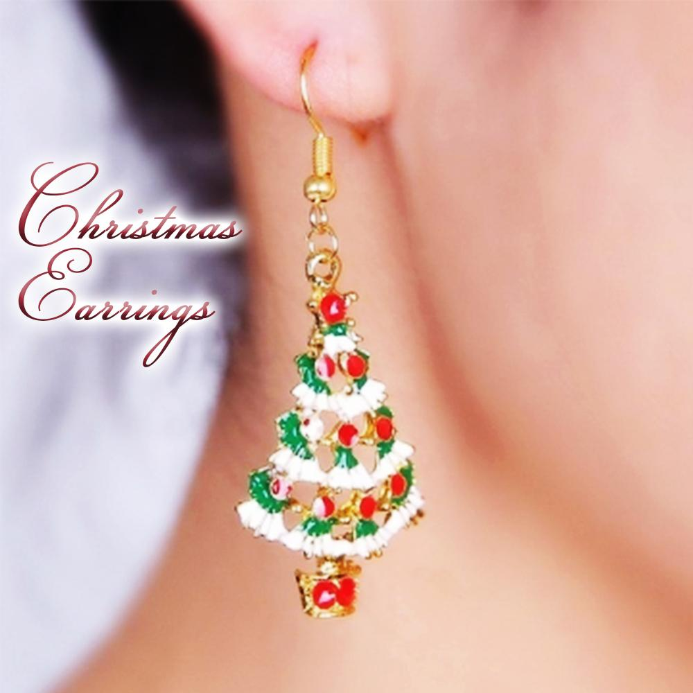 Christmas Necklace Earrings Set