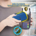 RFID Blocking Travel Passport Wallet