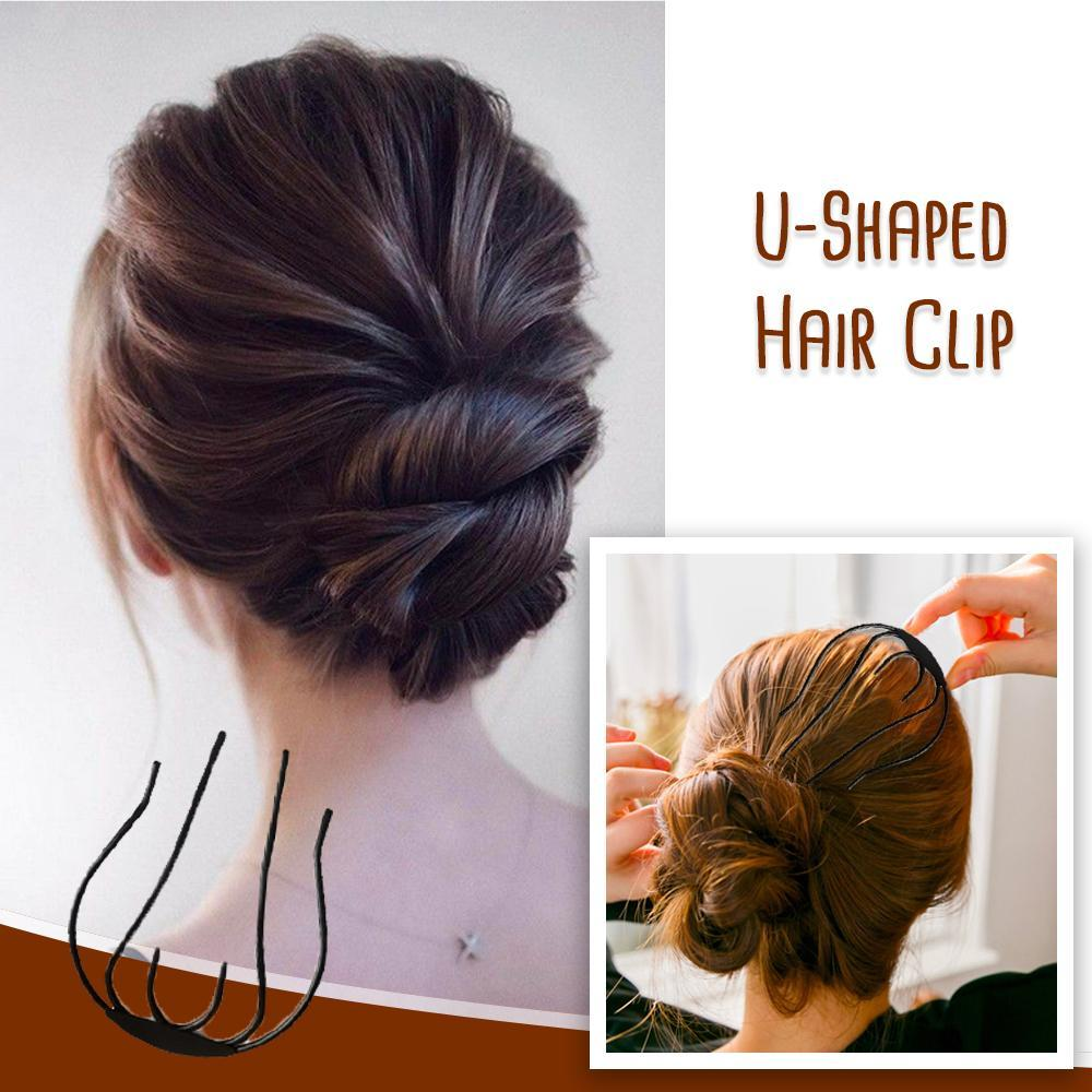 U-shaped Updo Hair Clip - Set For 3