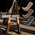 Women Leather Cowboy Boots