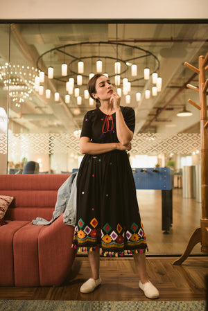 Black Banjara Dress - Threeness Designs