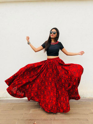 Banjara Croptop Skirt - Threeness Designs