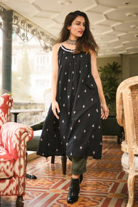 Black Spaghetti BOHO Dress