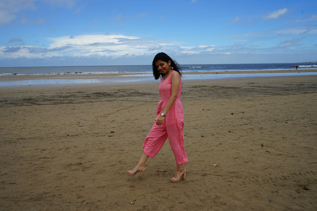 Pink Abla Jumpsuit - Threeness Designs