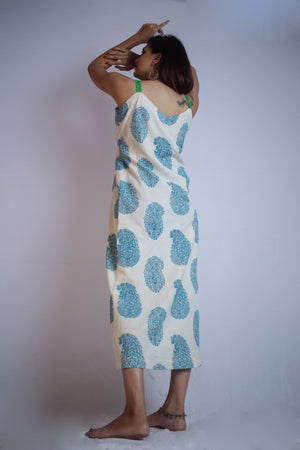 Block Print Slip Dress - Threeness Designs