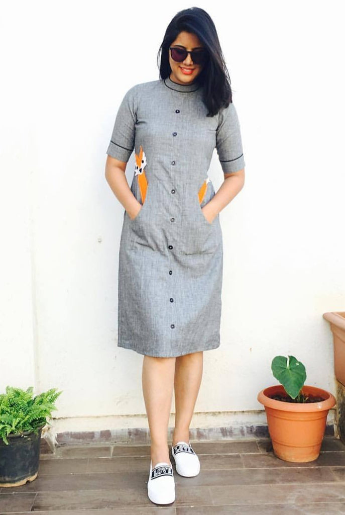 Grey Fox Dress - Threeness Designs