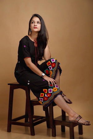 Black Banjara Jumpsuit - Threeness Designs