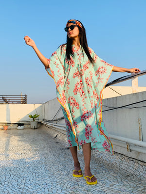 Blue Spring Kaftan - Threeness Designs