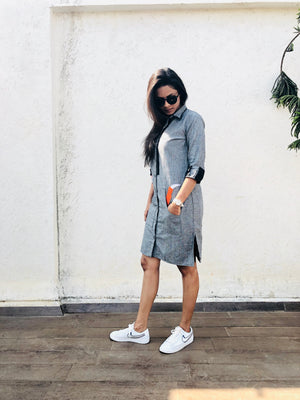 Grey Fox Shirt Dress