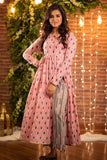Pink Slit Kurta With Tassel Pants