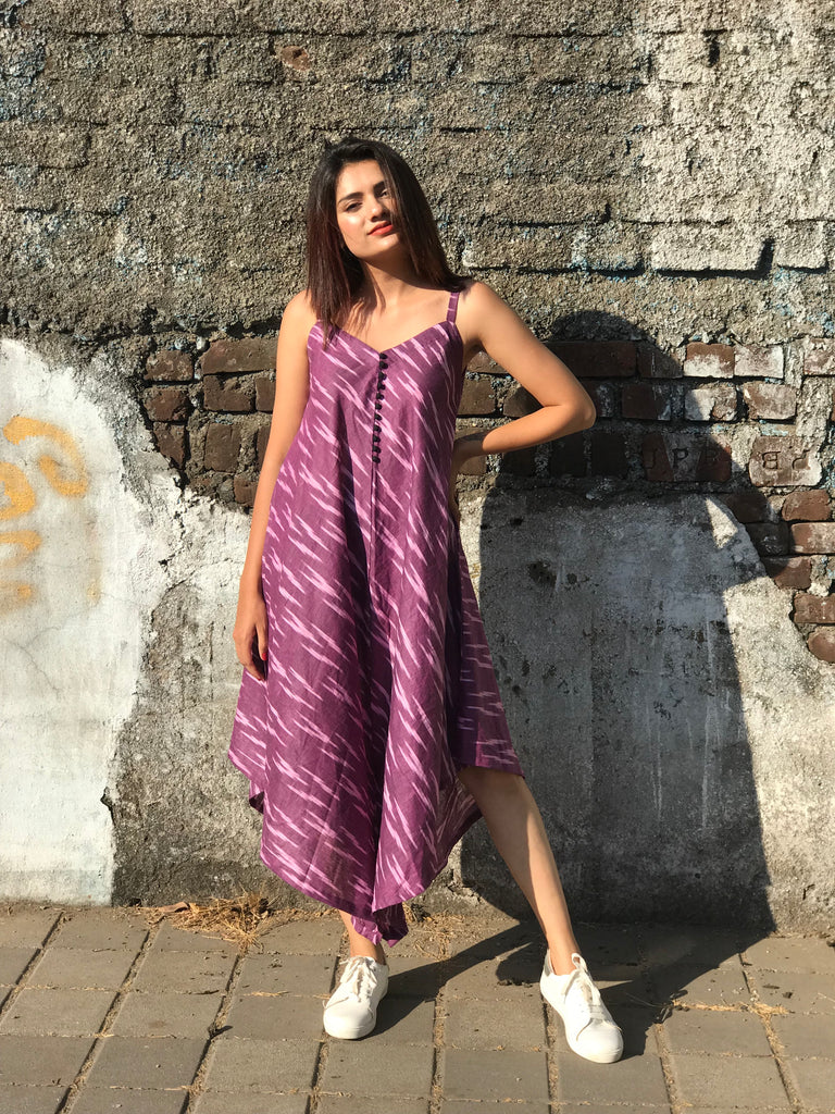 Purple Ikat Harem Jumpsuit - Threeness Designs