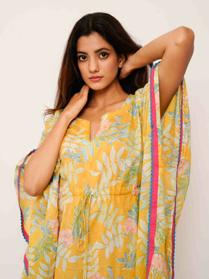 Yellow Tropical Kaftan