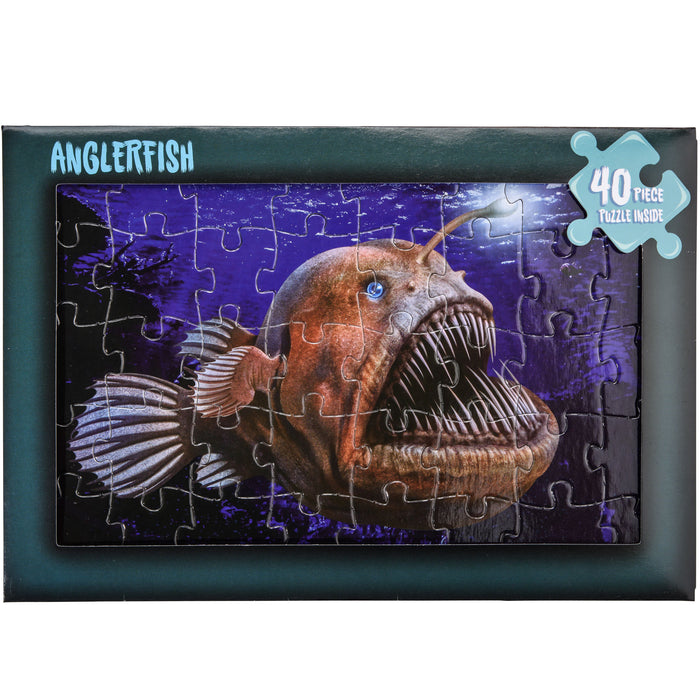 Angler Fish Jigsaw Puzzle Cards 40 Pce
