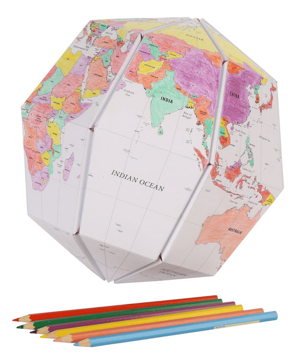 The Paper Globe Lge Colour